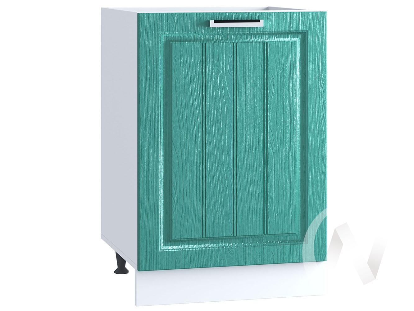 "Кухня ""Луксор"": Шкаф нижний под мойку 500, ШНМ 500 (Клен бирюза/корпус белый)"