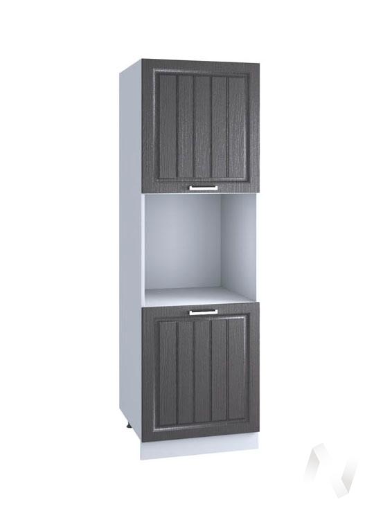 """Кухня """"Луксор"""": Шкаф пенал 600, ШП 600 (Клен серый/корпус белый)"""