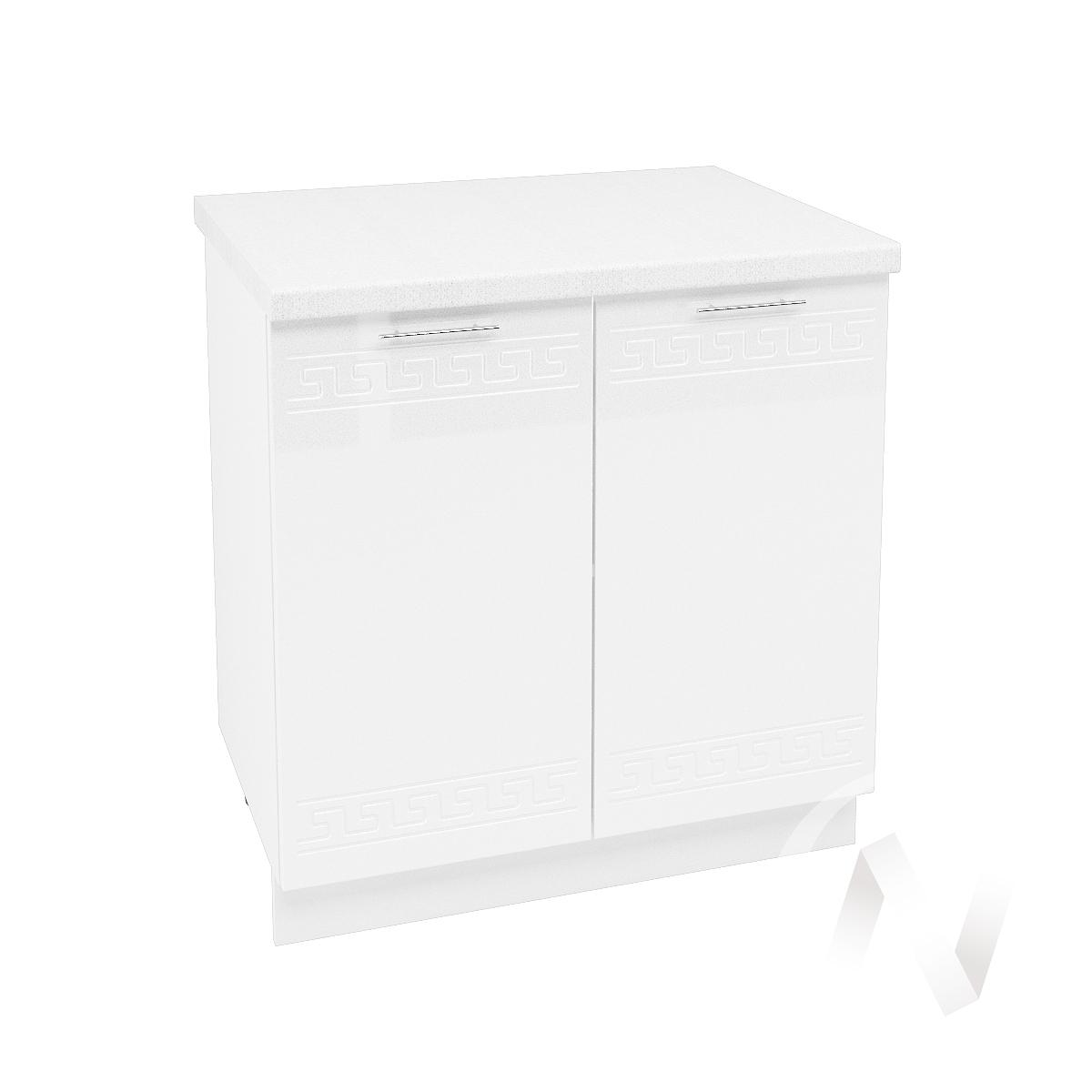 "Кухня ""Греция"": Шкаф нижний 800, ШН 800 новый (белый металлик/корпус белый)"