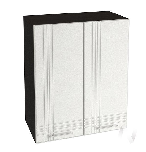 """Кухня """"Струна"""": Шкаф верхний 600, ШВ 600 новый (белый металлик/корпус венге)"""