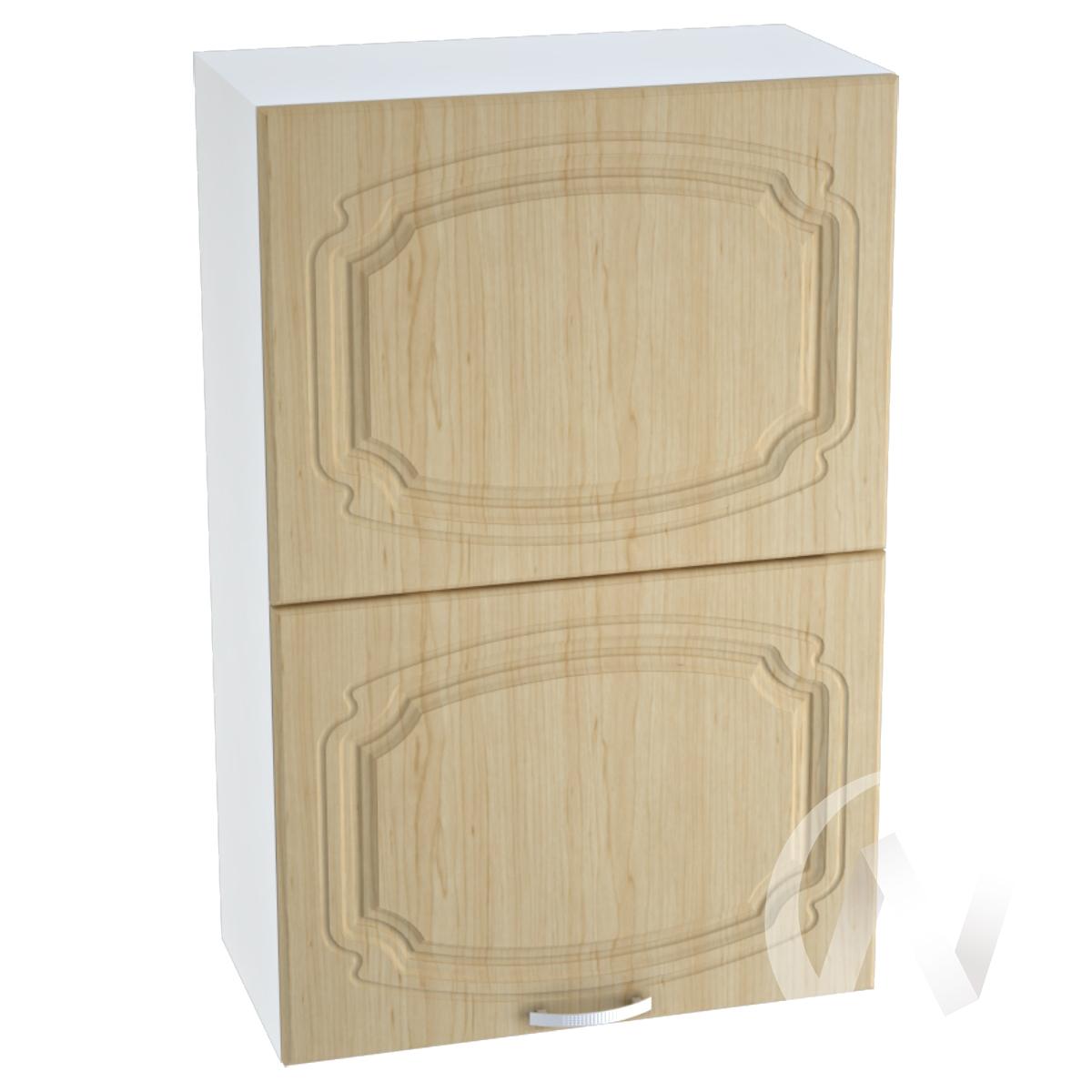 """Кухня """"Настя"""": Шкаф верхний горизонтальный 602, ШВГ 602 (Береза/корпус белый)"""