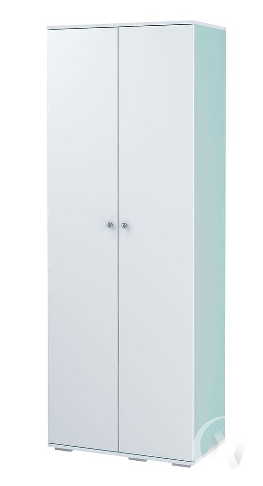 Шкаф 2-х створчатый ШК-09 Тифани (белый/кенди)