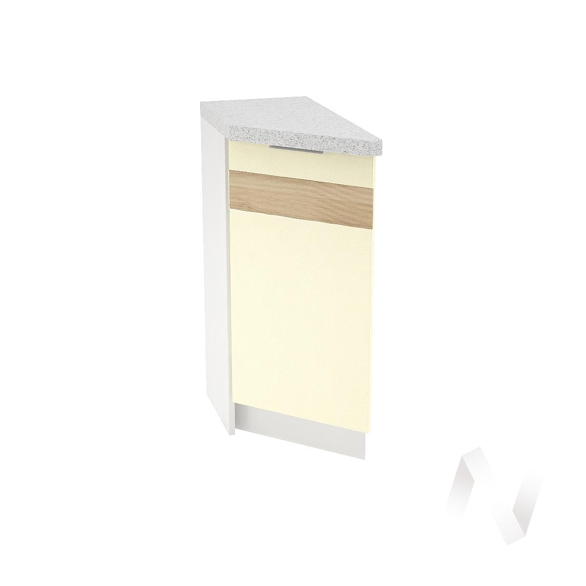 """Кухня """"Терра"""": Шкаф нижний торцевой левый 300, ШНТ 300 (ваниль софт/корпус белый)"""