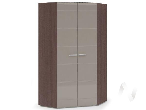 Шкаф угловой 2-х ств Спальня Вегас (шимо темный/кофе с молоком)