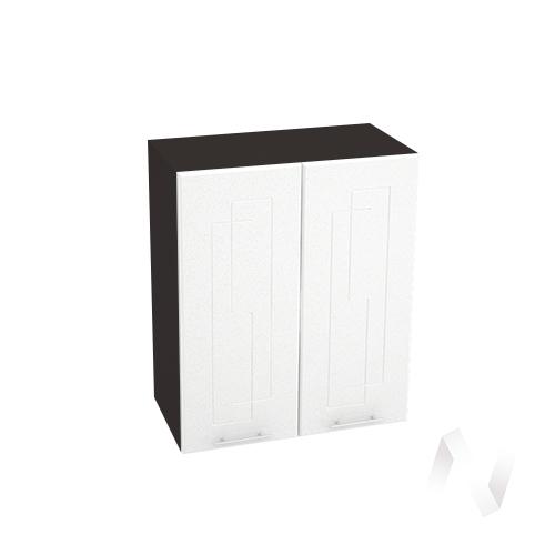 """Кухня """"Вега"""": Шкаф верхний 600, ШВ 600 новый (белый металлик/корпус венге)"""