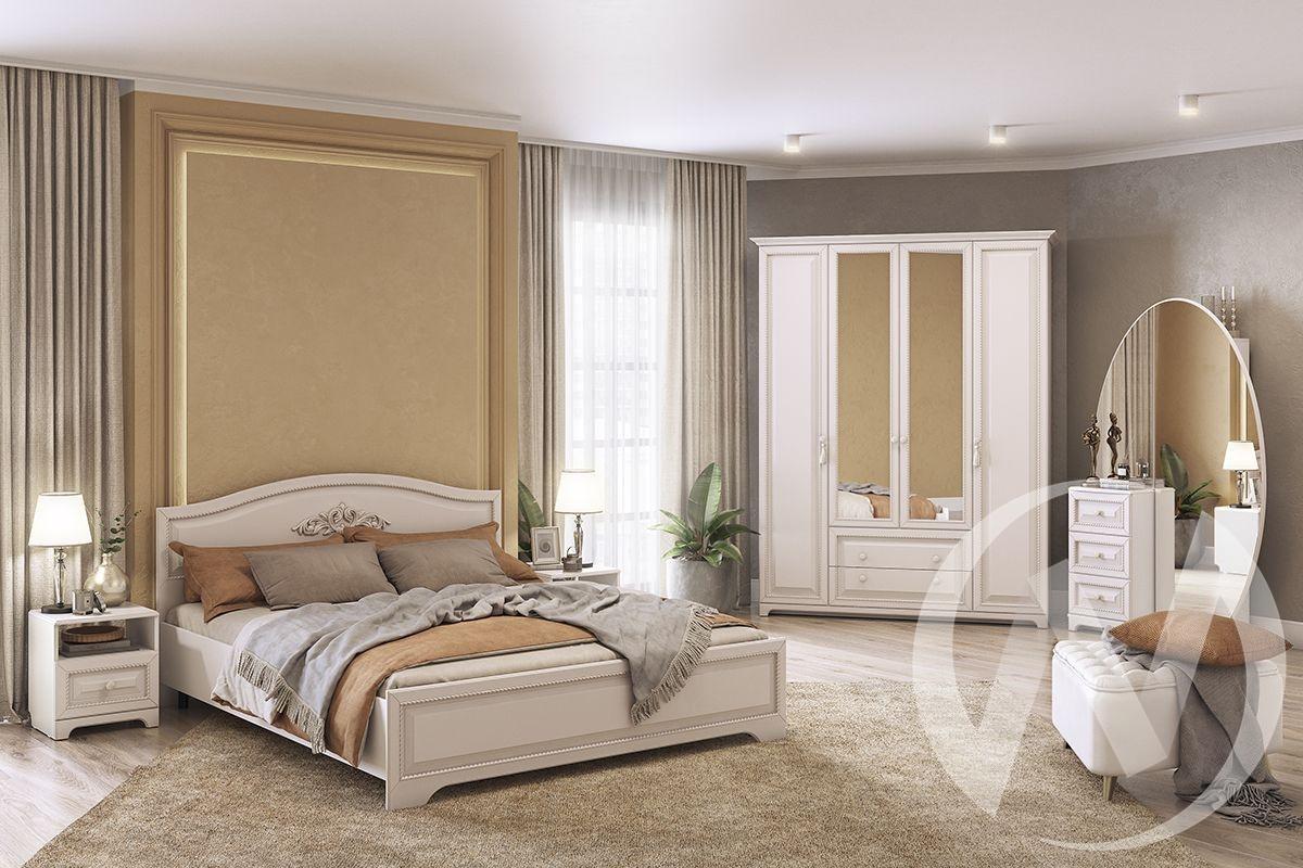 """Набор для спальни """"Белла"""" (Белый/Софт джелато), (Продается помодульно)"""