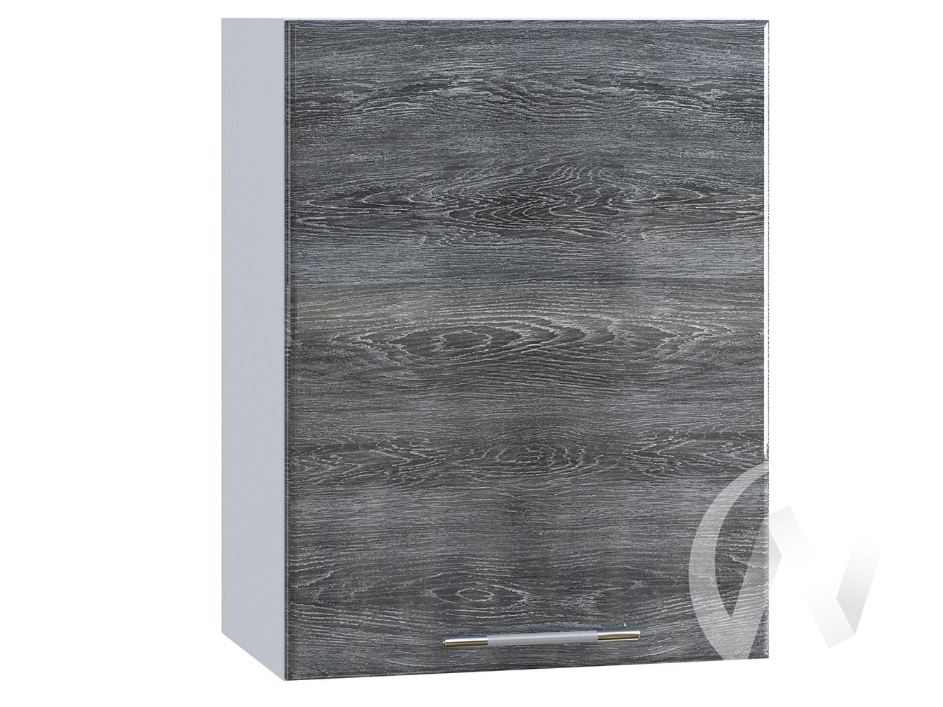 "Кухня ""Танго"": Шкаф верхний 500, ШВ 500 (Дуб шале серебро/корпус белый)"