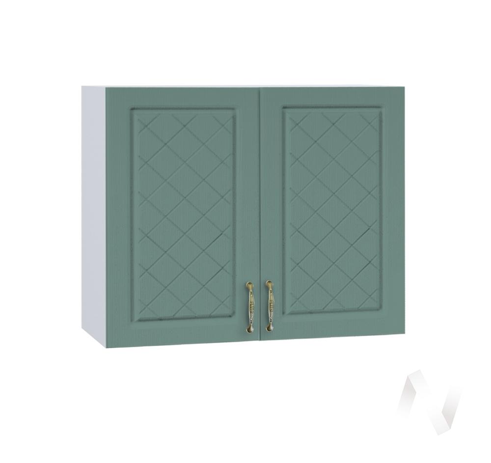 """Кухня """"Селена"""": Шкаф верхний 800, ШВ 800 новый (Дуб бирюзовый/корпус белый)"""