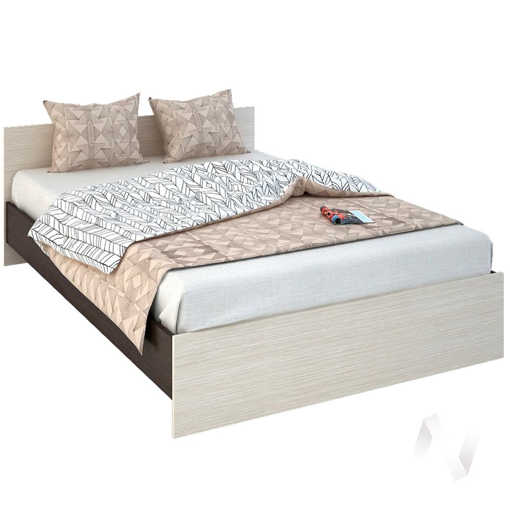 Бася Кровать 1,4  ЛДСП(венге/дуб бел) КР 557