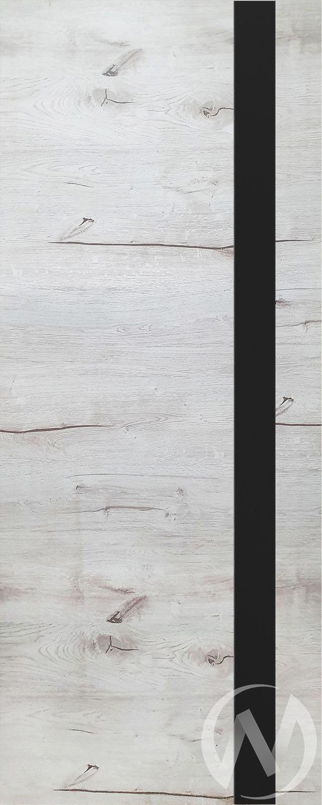 Дверь ЭКШ (Тип Royal-2, 60, Дуб арктика (светлый), стекло черное)  в Томске — интернет магазин МИРА-мебель
