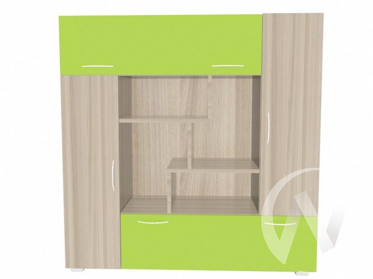 Глобус 1 шкаф для книг (ясень шимо светлый/лайм)