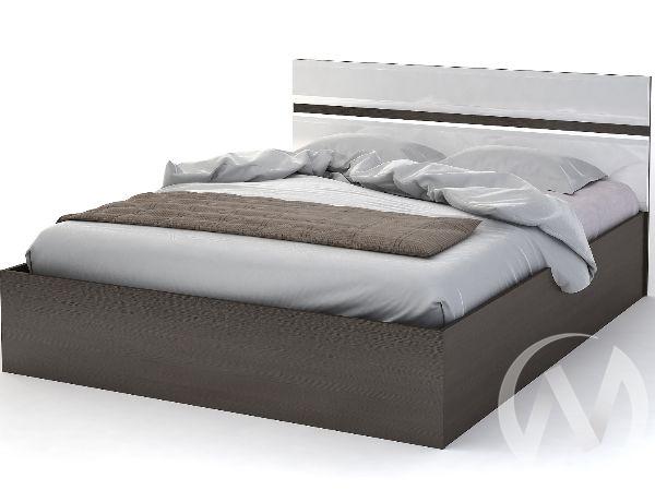 Кровать 1,6м Спальня Вегас (белый глянец)
