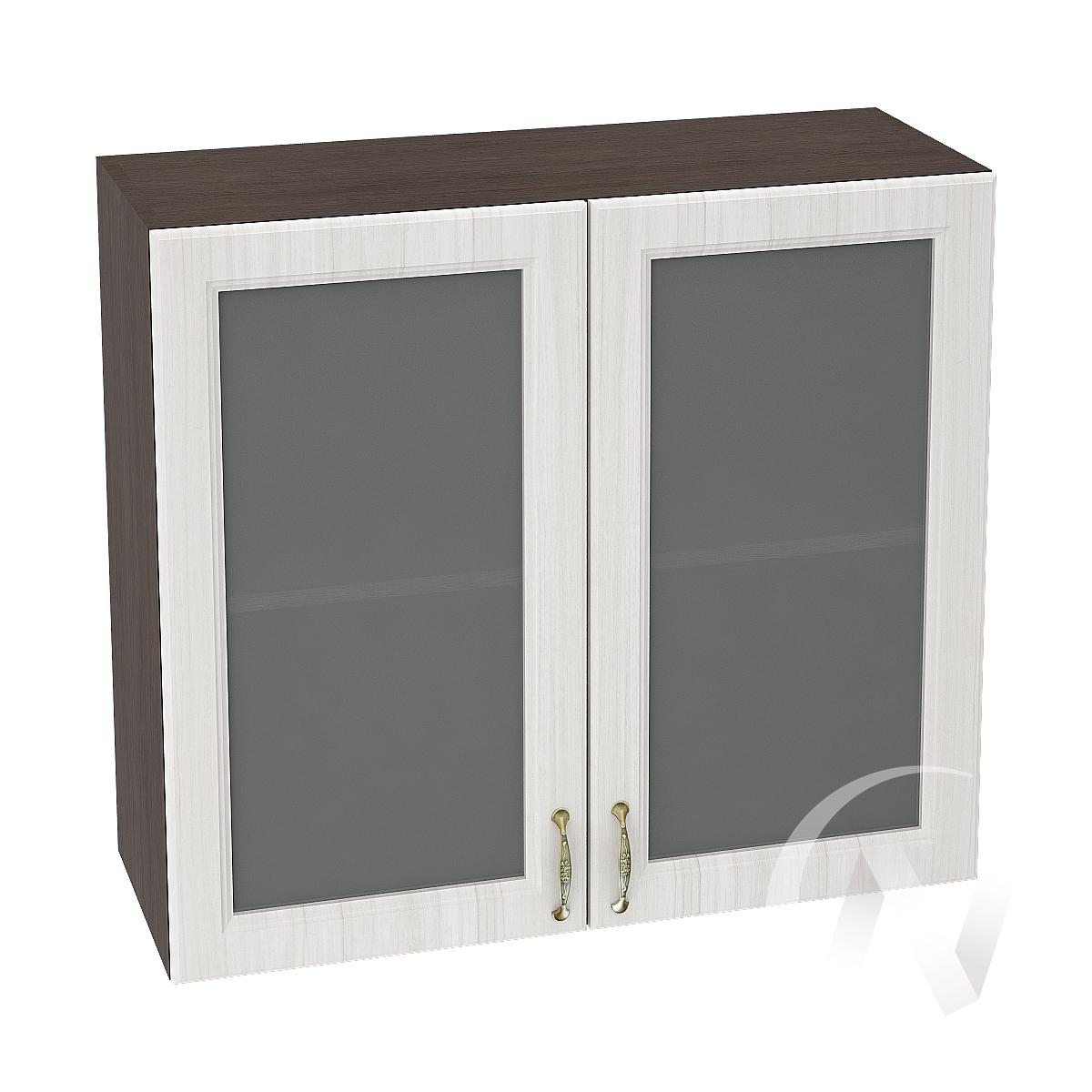"""Кухня """"Виктория"""": Шкаф верхний со стеклом 800, ШВС 800 новый (корпус венге)"""