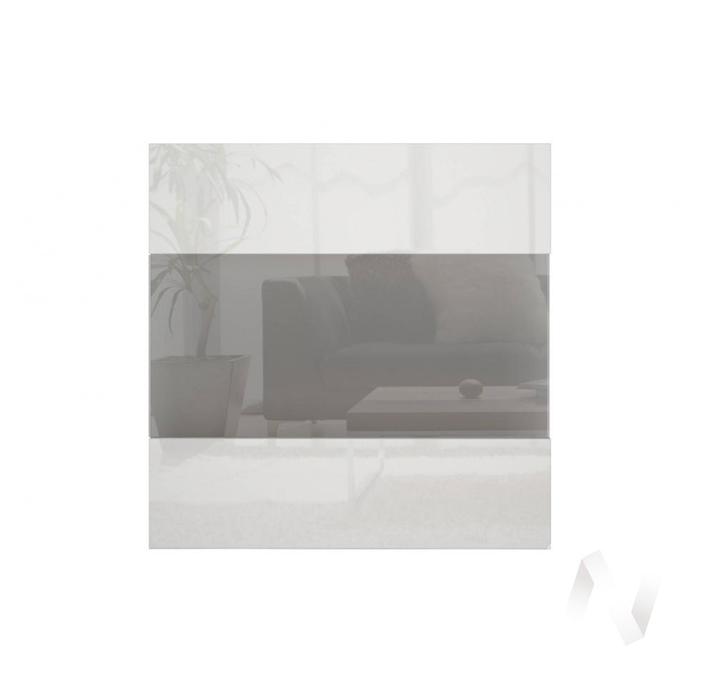 """Фасад со стеклом (для высокого каркаса) """"Прато"""" СТЛ.320.04 (Белый глянец)"""