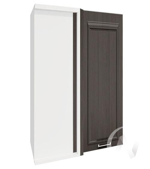 """Кухня """"Прага"""": Шкаф верхний угловой 699, ШВУ 699 (венге/корпус белый)"""