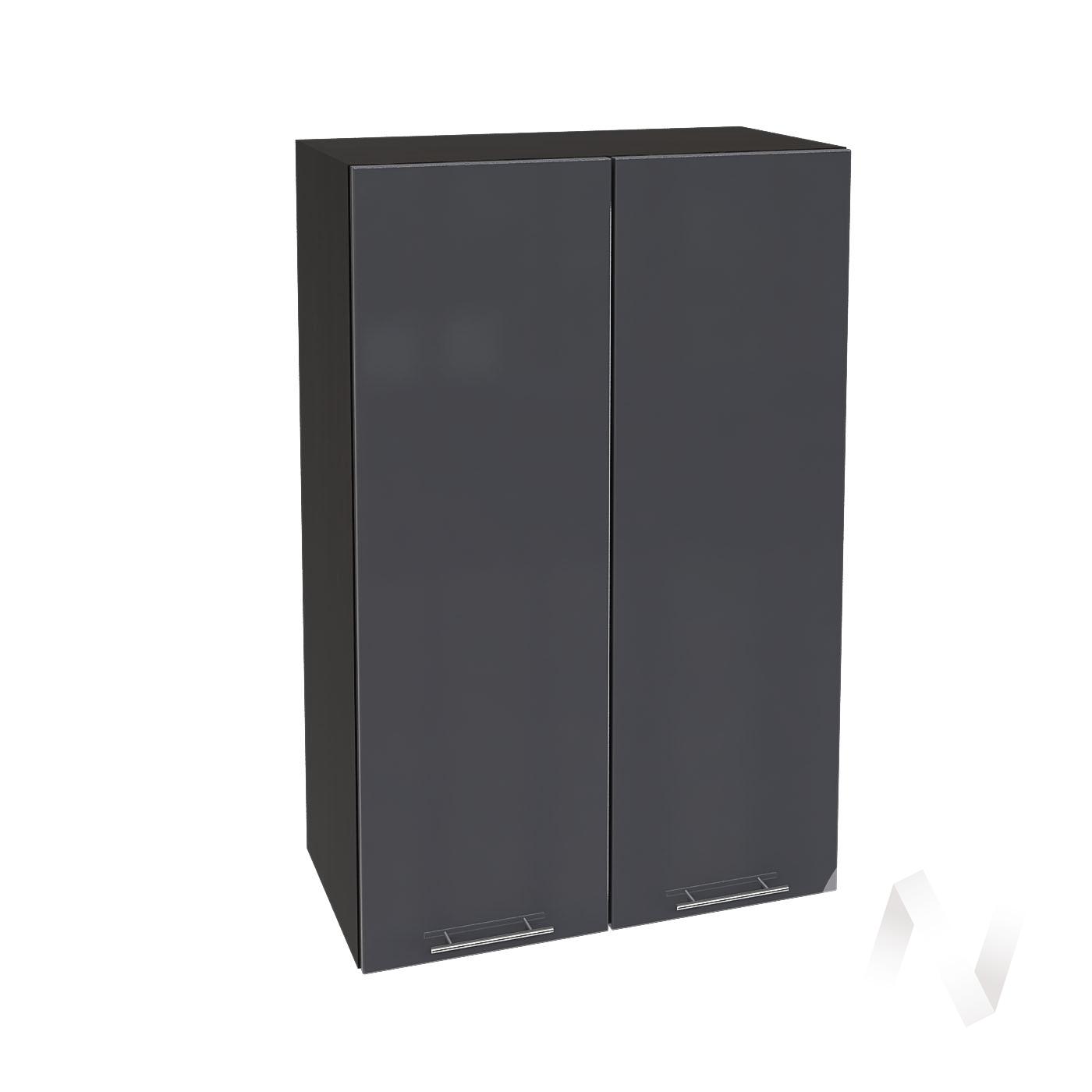 """Кухня """"Валерия-М"""": Шкаф верхний 609, ШВ 609 новый (Антрацит глянец/корпус венге)"""