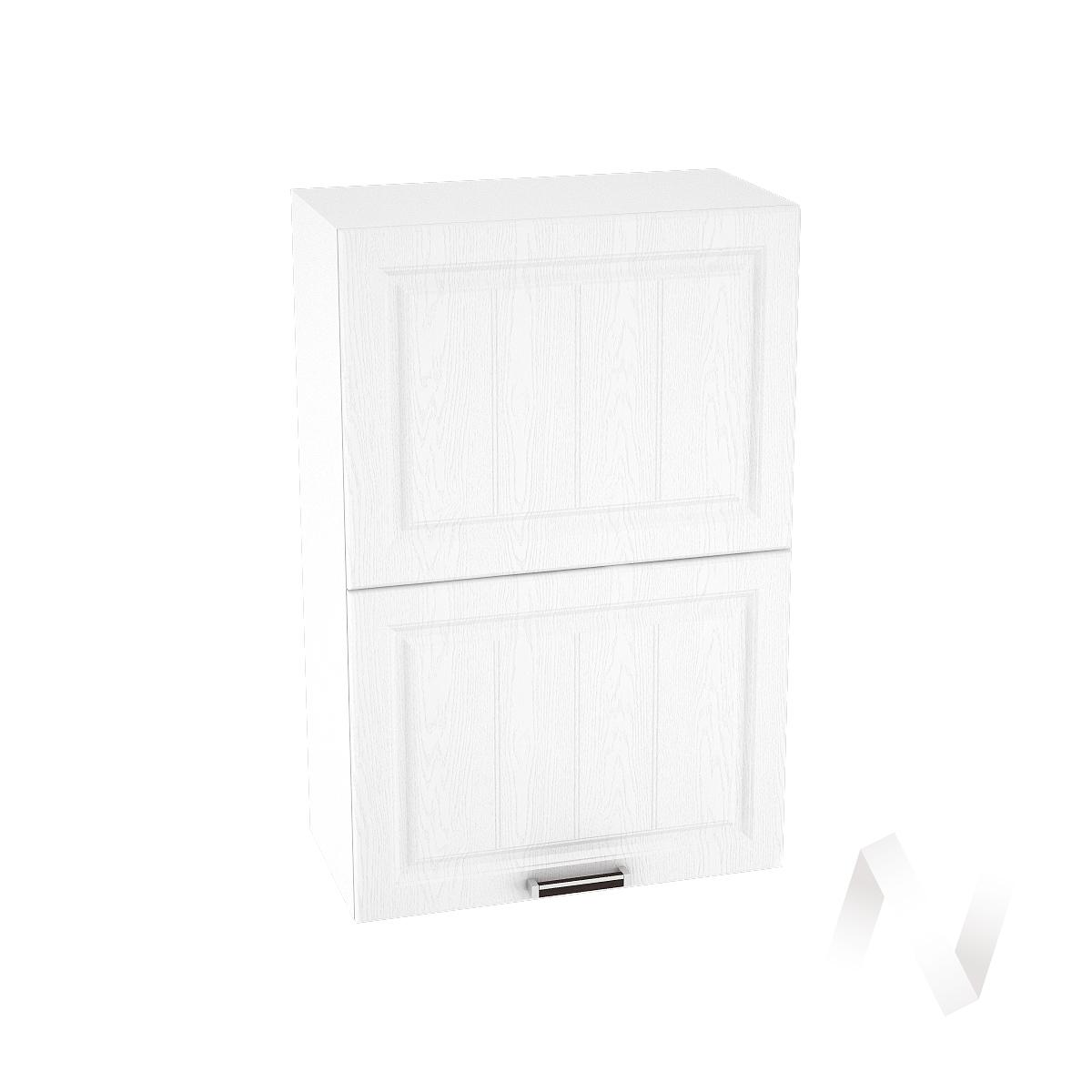 """Кухня """"Прага"""": Шкаф верхний горизонтальный 602, ШВГ 602 (белое дерево/корпус белый)"""