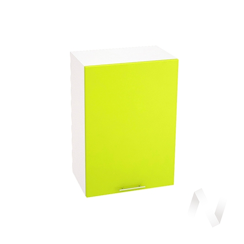 "Кухня ""Валерия-М"": Шкаф верхний 500, ШВ 500 (лайм глянец/корпус белый)"