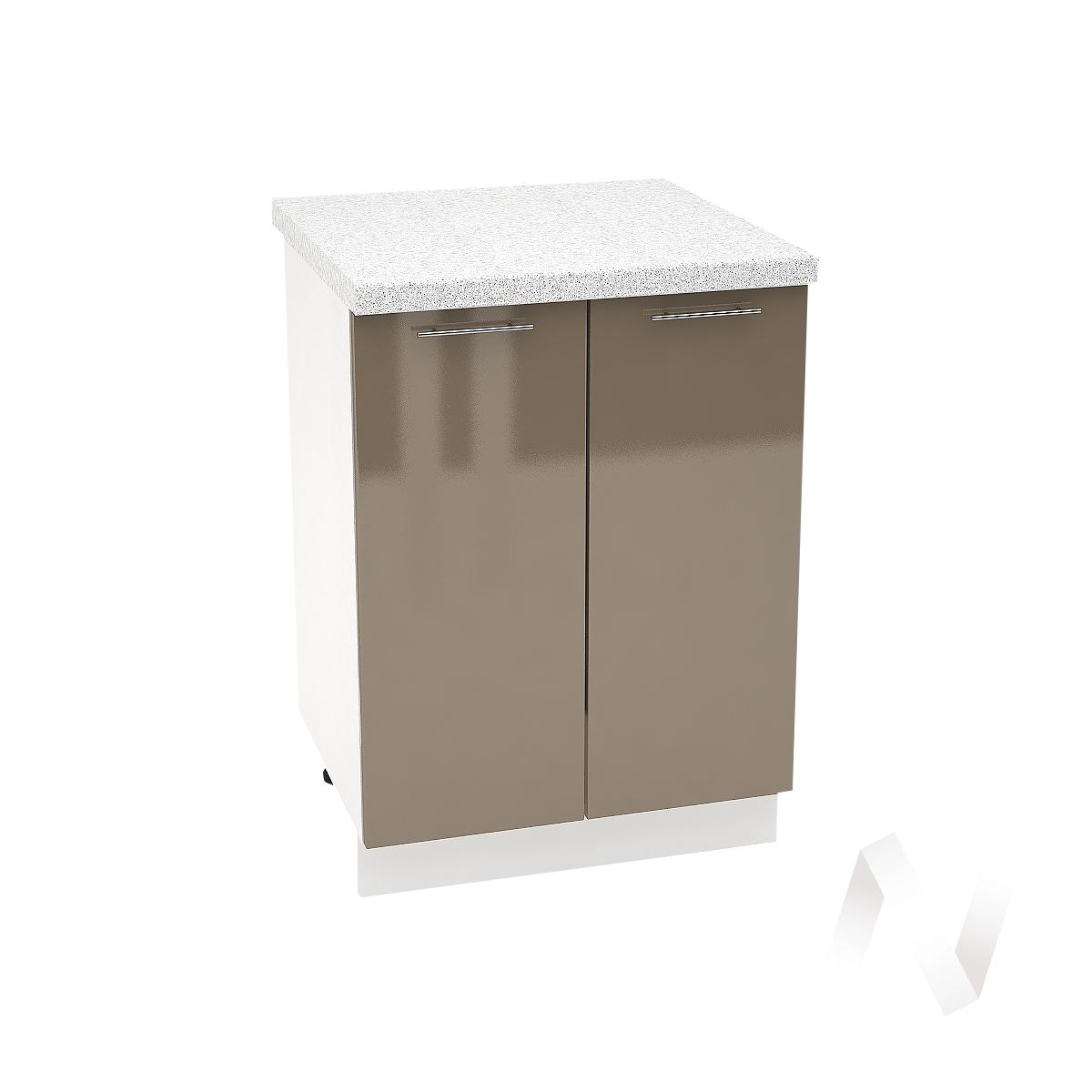 "Кухня ""Валерия-М"": Шкаф нижний 600, ШН 600 новый (Капучино глянец/корпус белый)"