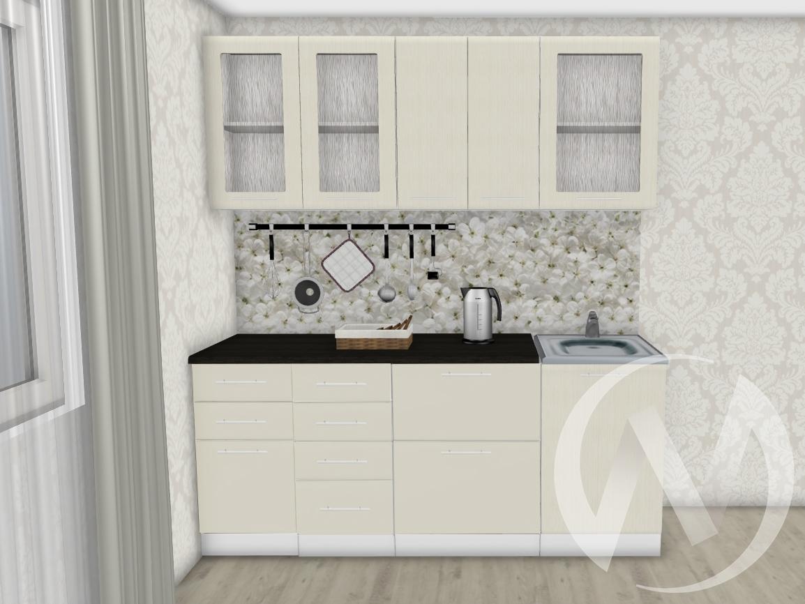 Кухня Люкс шелк жемчуг 1,9 №2  в Томске — интернет магазин МИРА-мебель