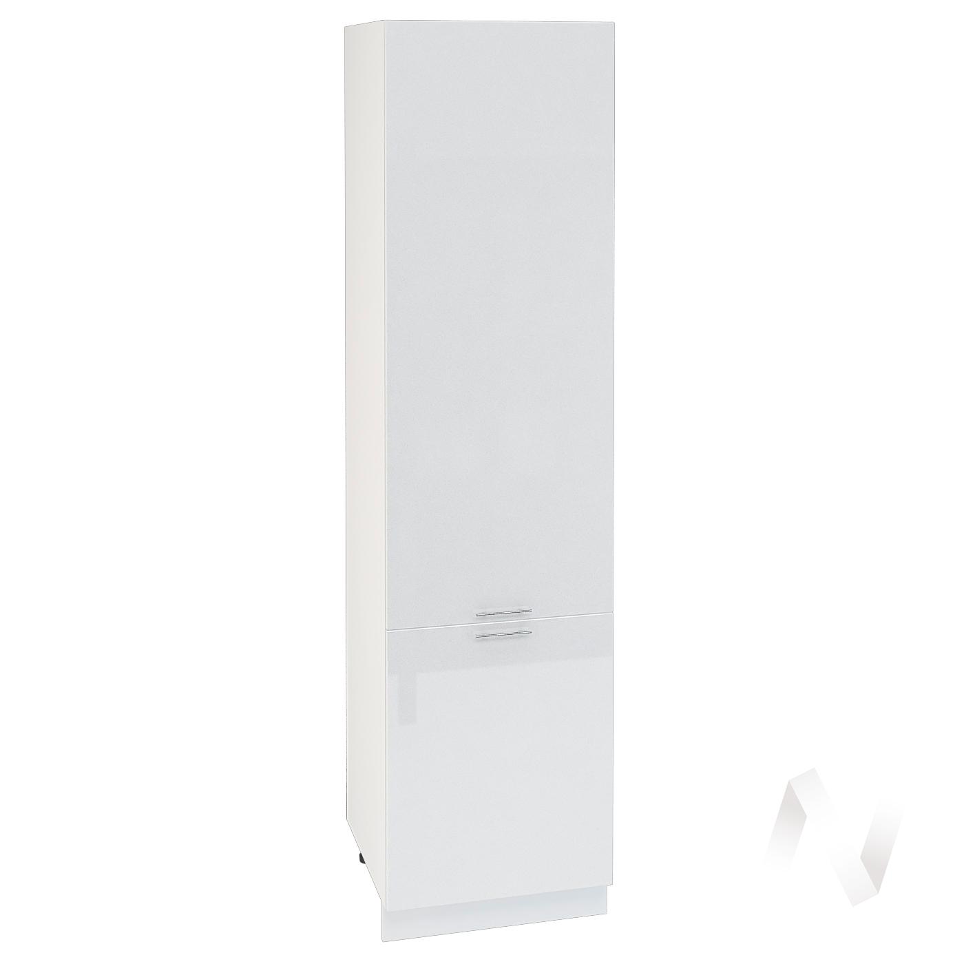"""Кухня """"Валерия-М"""": Шкаф пенал 600, ШП 600 НМ (белый металлик/корпус белый)"""