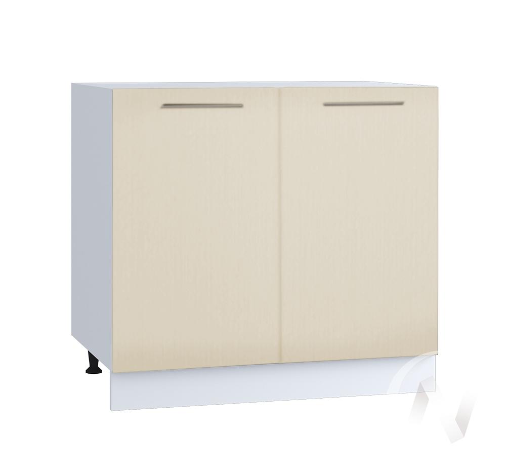 """Кухня """"Люкс"""": Шкаф нижний 800, ШН 800 новый (Шелк жемчуг/корпус белый)"""