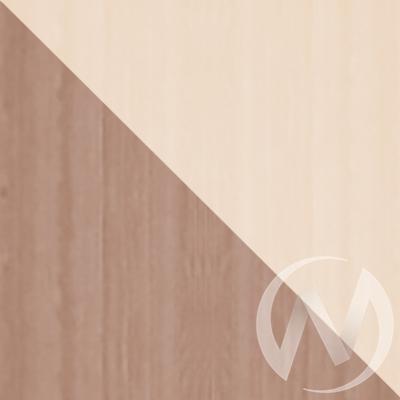 Шкаф-купе «Жаклин» 2-х дверный тройной с зеркалом (ясень шимо темный/дуб сонома)