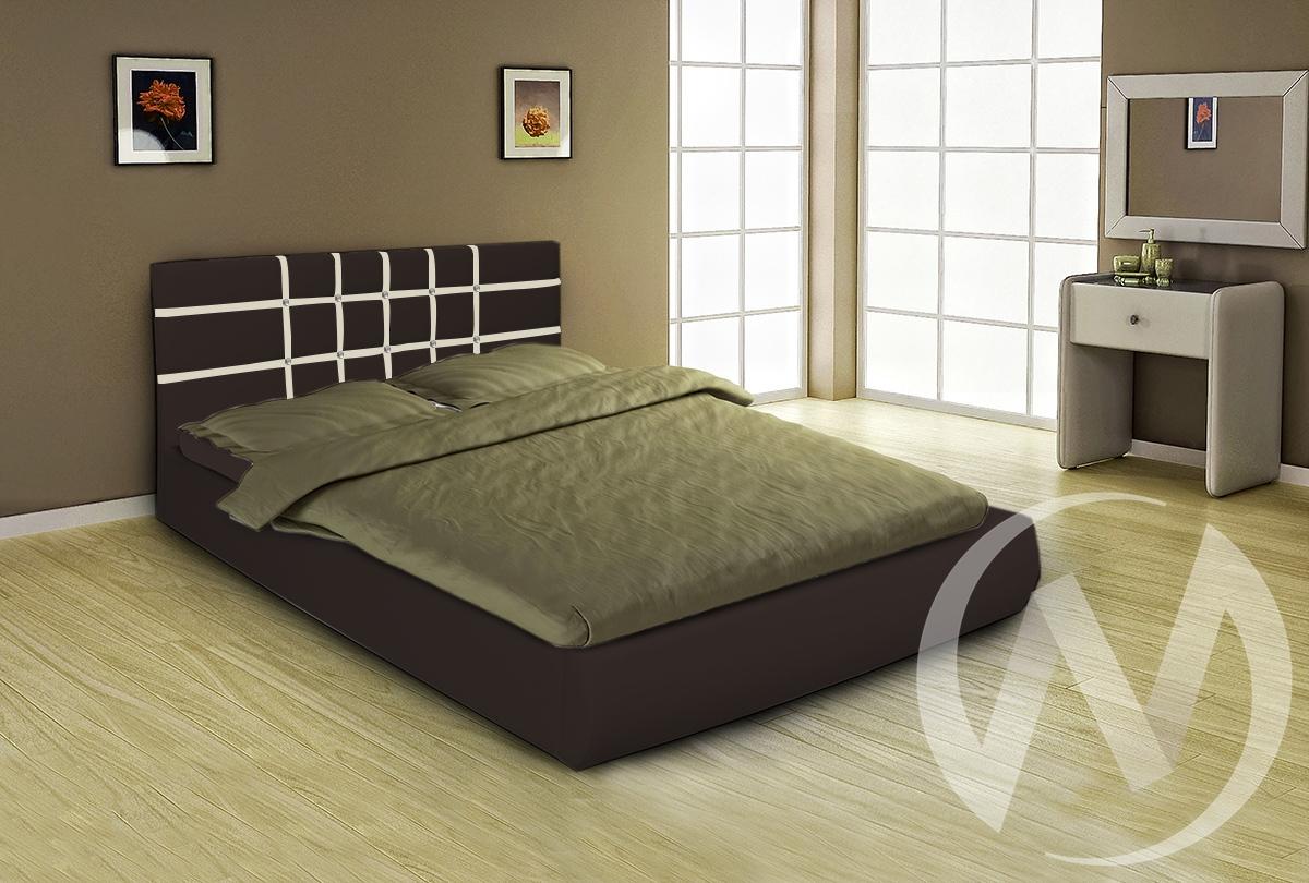 Кровать Классик 1,6 с подъемным механизмом (темно-коричневый)