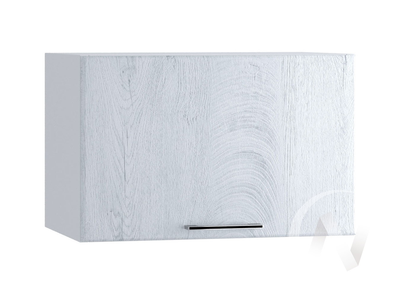 "Кухня ""Палермо"": Шкаф верхний горизонтальный 500, ШВГ 500 (Дуб остин серый/корпус белый)"