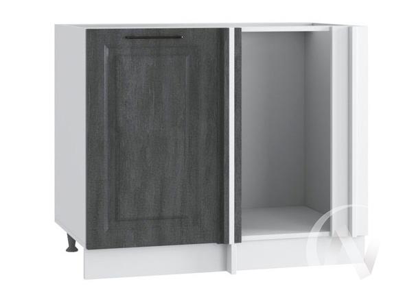 """Кухня """"Либерти"""": Шкаф нижний угловой 990М, ШНУ 990М (Холст грей/корпус белый)"""