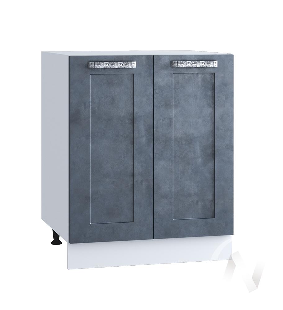 "Кухня ""Лофт"": Шкаф нижний 600, ШН 600 новый (Бетон графит/корпус белый)"