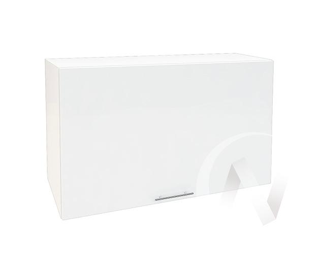 """Кухня """"Валерия-М"""": Шкаф верхний горизонтальный 809, ШВГ 809 (белый глянец/корпус белый)"""