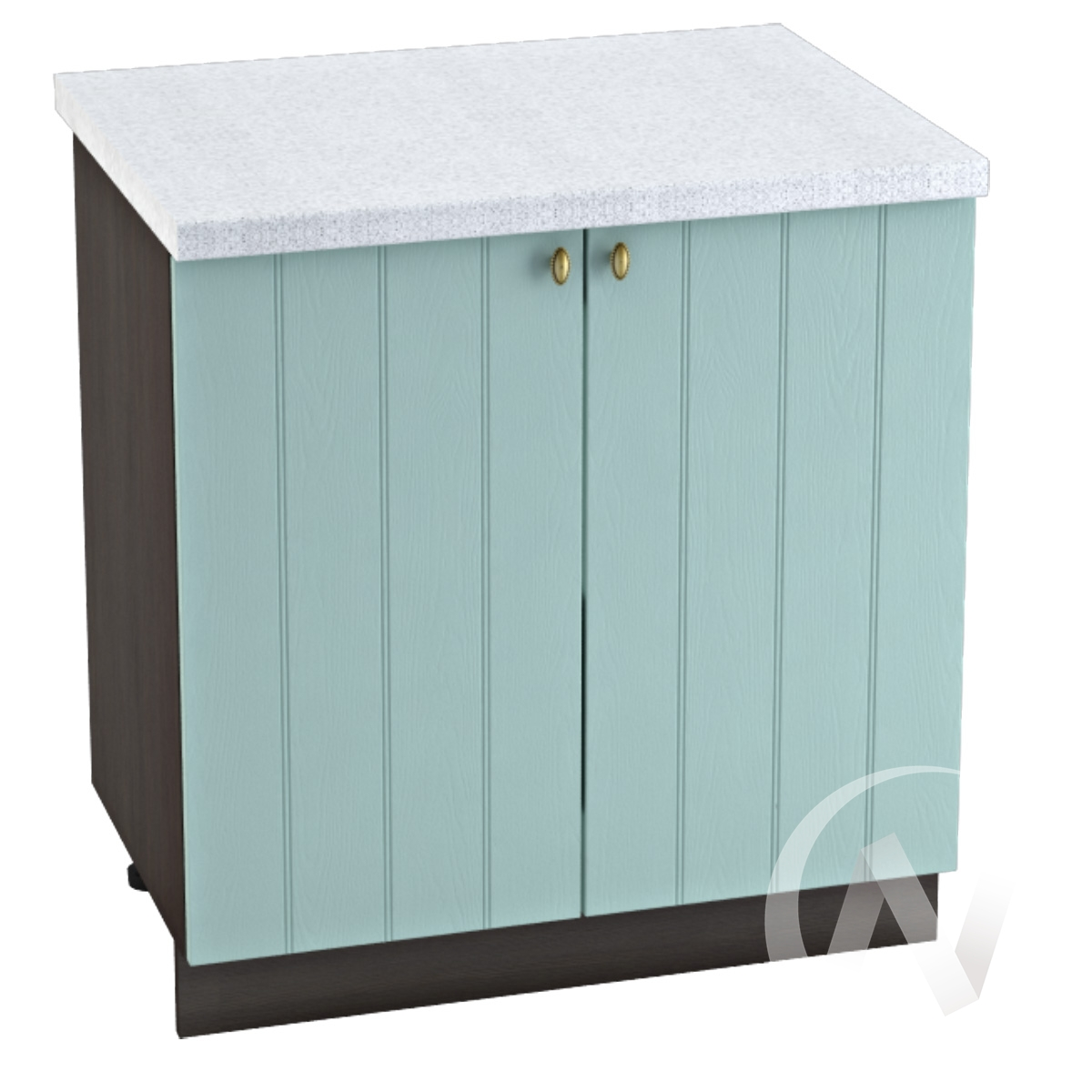 """Кухня """"Прованс"""": Шкаф нижний 800, ШН 800 новый (голубой/корпус венге)"""