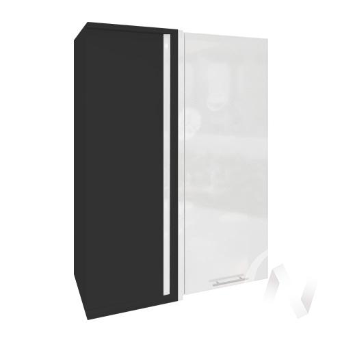 """Кухня """"Валерия-М"""": Шкаф верхний угловой 699, ШВУ 699 (белый глянец/корпус венге)"""