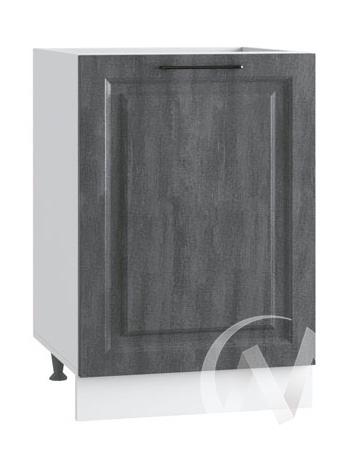 """Кухня """"Либерти: Шкаф нижний под мойку 500, ШНМ 500 (Холст грей/корпус белый)"""