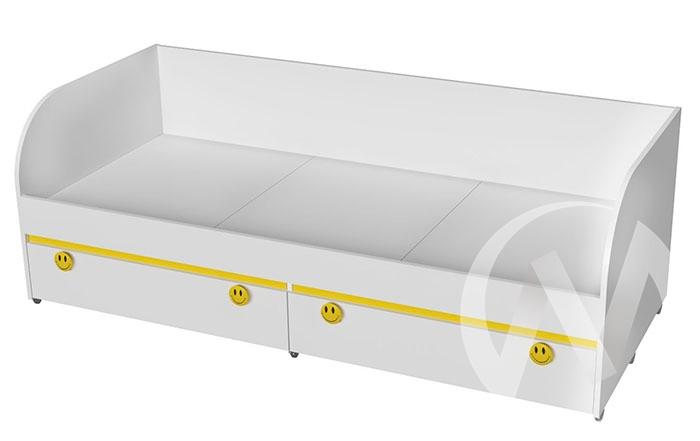 Кровать детская КР-01 Мамба (белый/белый)