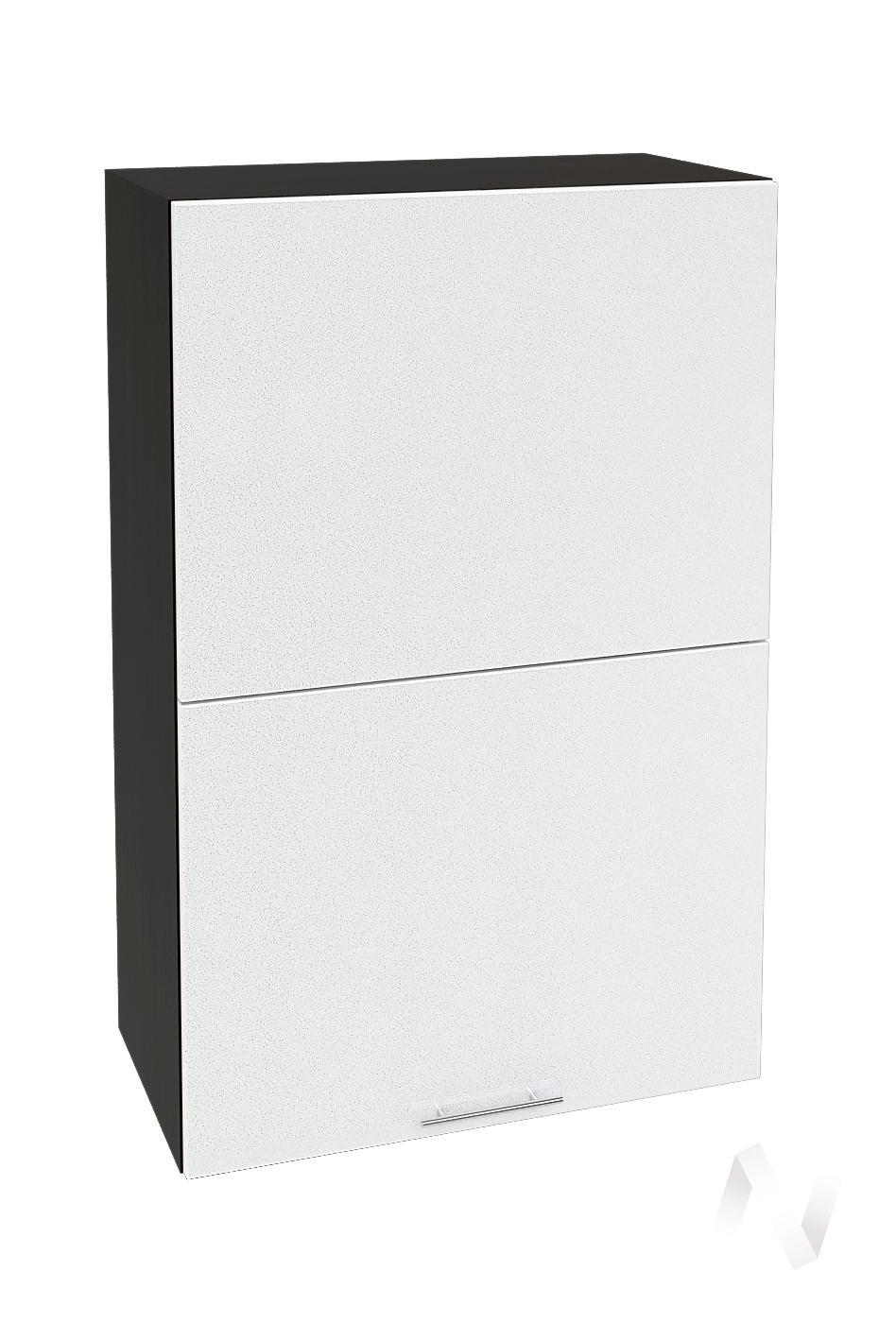 """Кухня """"Валерия-М"""": Шкаф верхний горизонтальный 602, ШВГ 602 (белый металлик/корпус венге)"""