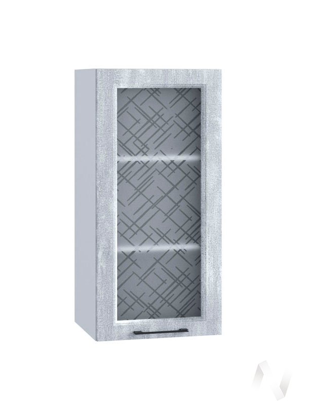 "Кухня ""Либерти"": Шкаф верхний 409, ШВC 409 (Холст натуральный/корпус белый)"