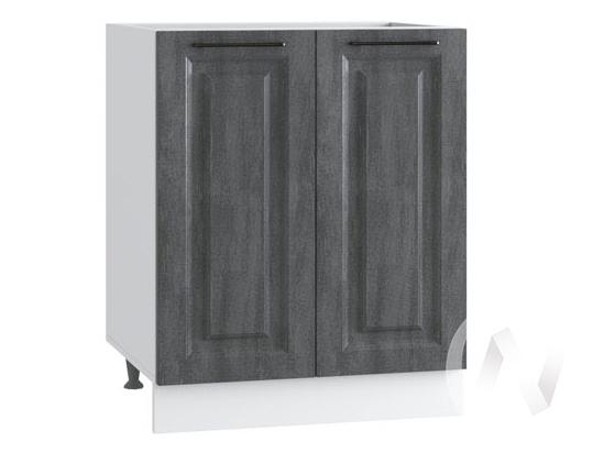 """Кухня """"Либерти"""": Шкаф нижний 600, ШН 600 (Холст грей/корпус белый)"""