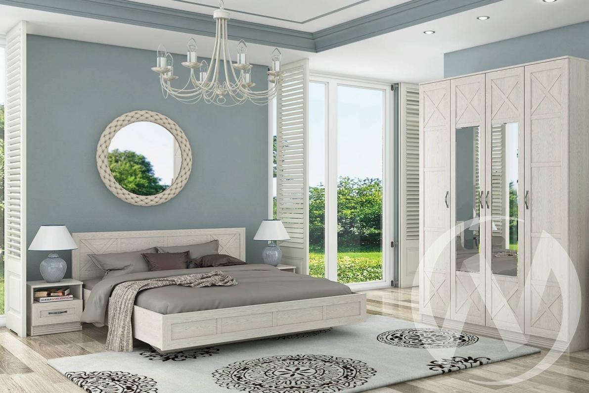 """Набор для спальни """"Лозанна"""" (Дуб белый), (Продаётся помодульно)"""