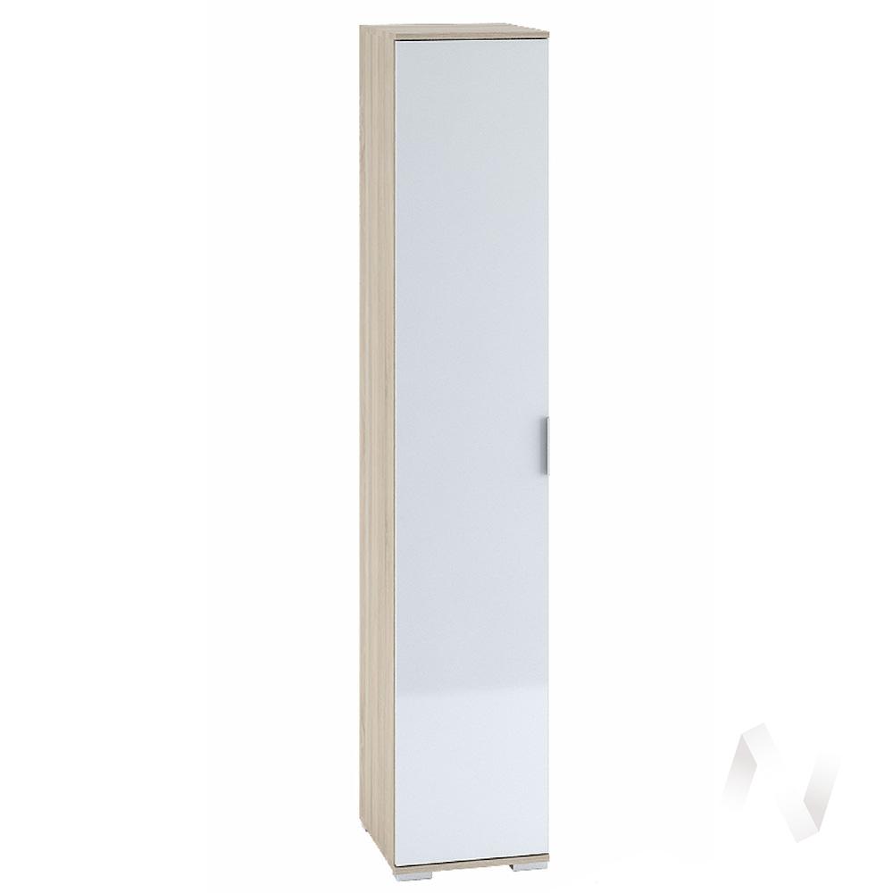 Шкаф 1-створчатый с полками 400 Терра (дуб сонома/белый глянец) ШК-821  в Новосибирске - интернет магазин Мебельный Проспект