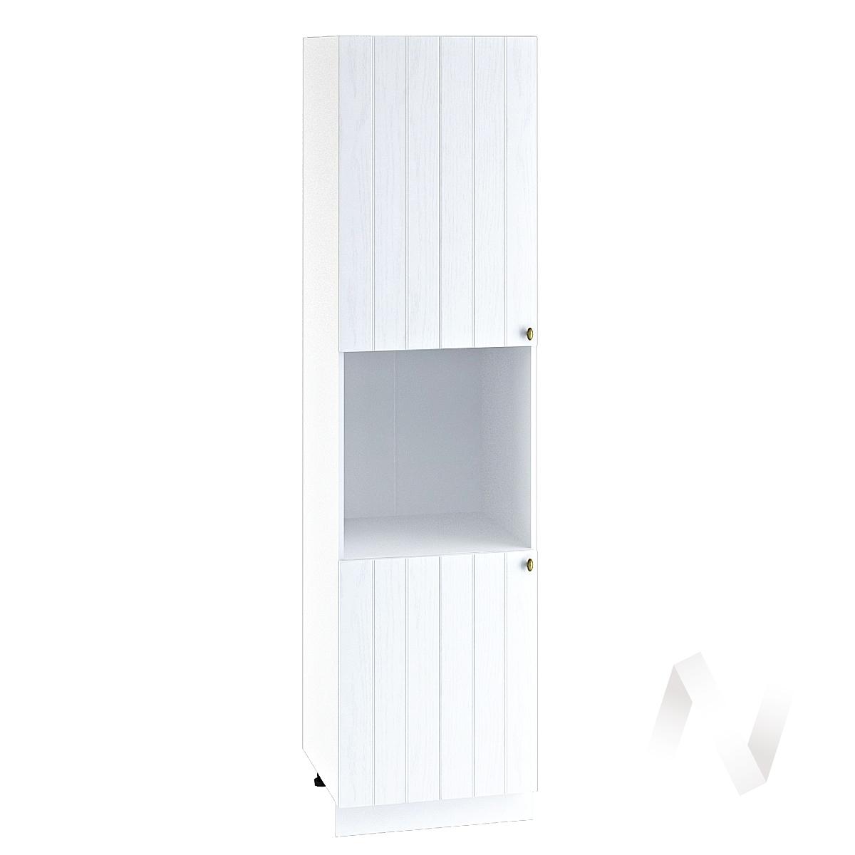 "Кухня ""Прованс"": Шкаф пенал 600, ШП 600Н (белое дерево/корпус белый)"