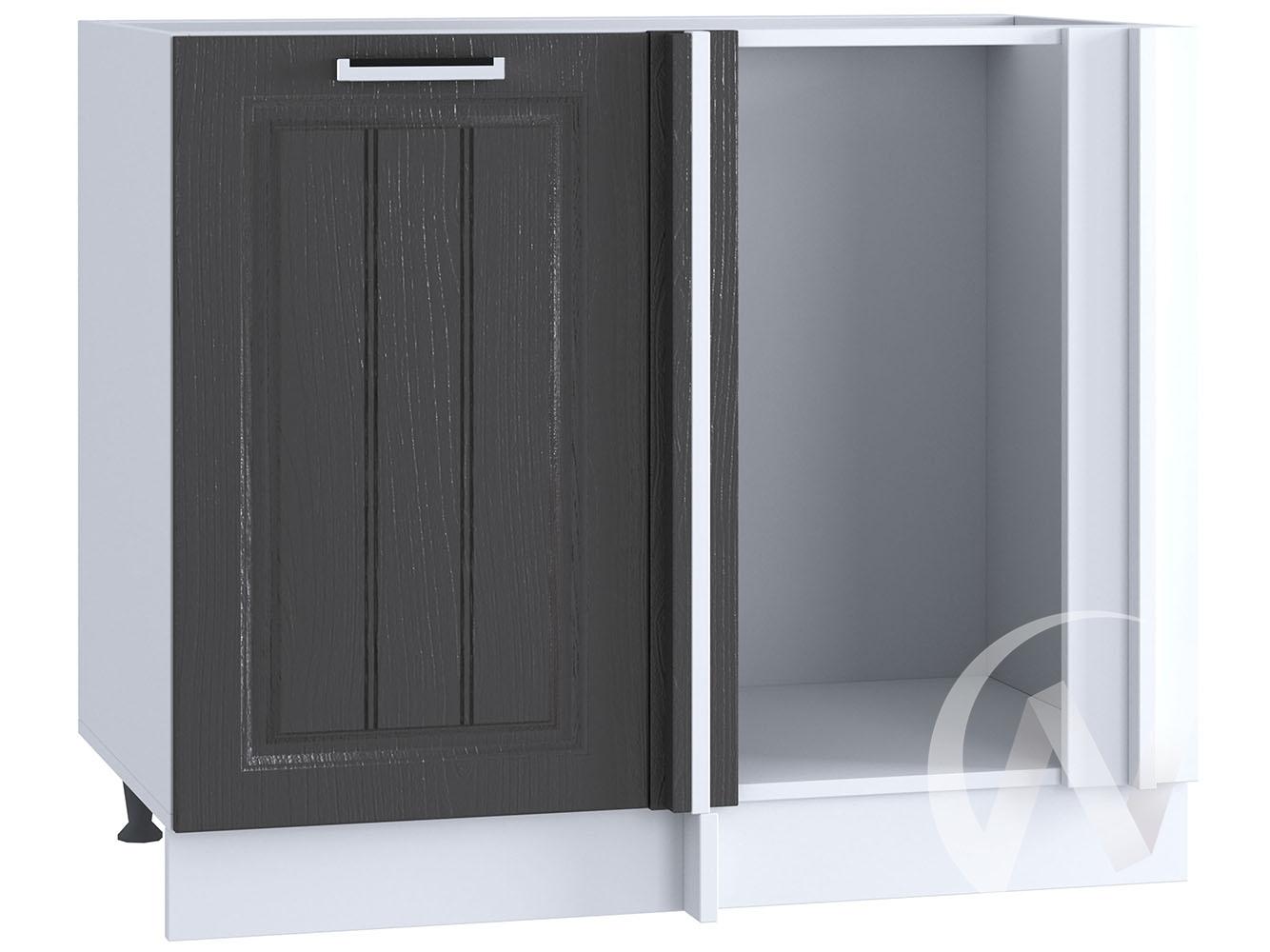 "Кухня ""Луксор"": Шкаф нижний угловой 990М, ШНУ 990М (Клен серый/корпус белый)"
