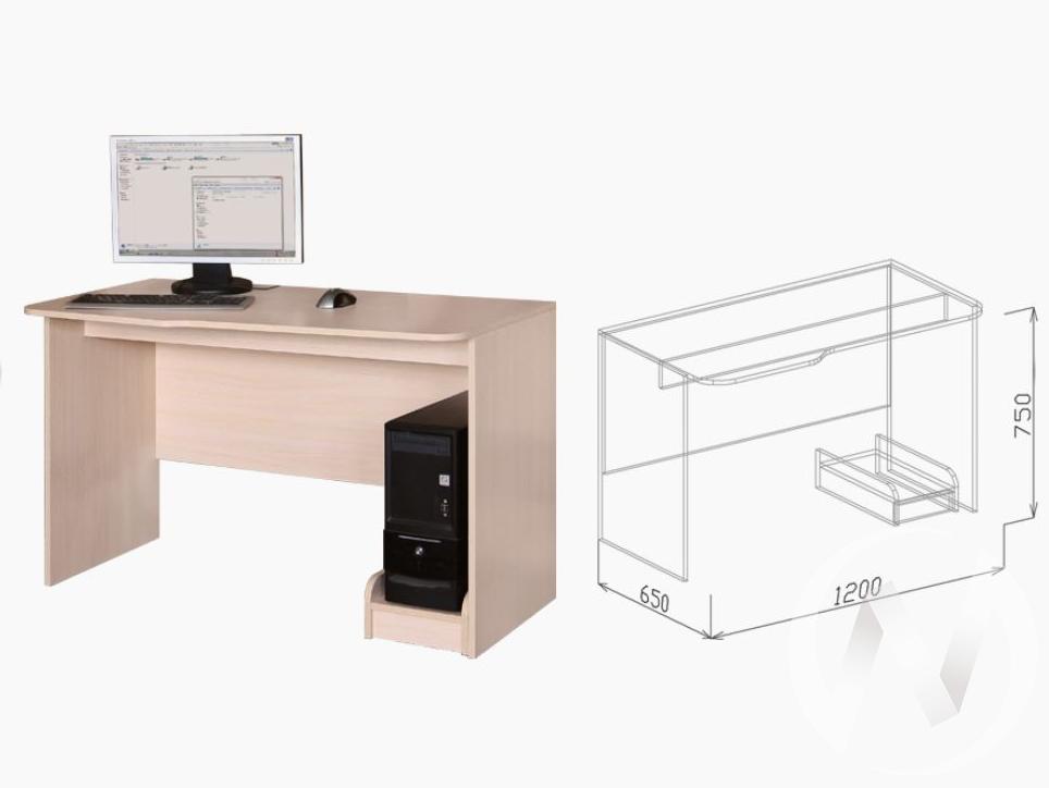 Евро М2 Стол компьютерный (бодега бежевый-ясень шимо темный)