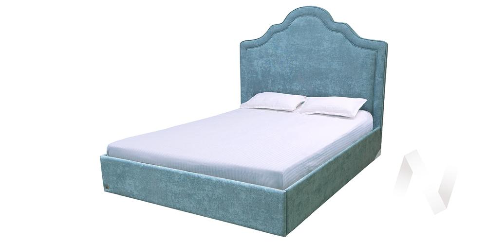 Кровать Фабиа 1,6х2,0 велюр Хоуп-12 4 категория с ПМ+орт недорого в Томске — интернет-магазин авторской мебели Экостиль