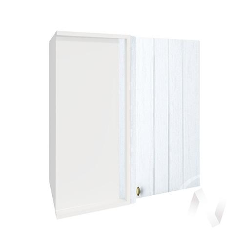 """Кухня """"Прованс"""": Шкаф верхний угловой 690, ШВУ 690 (белое дерево/корпус белый)"""