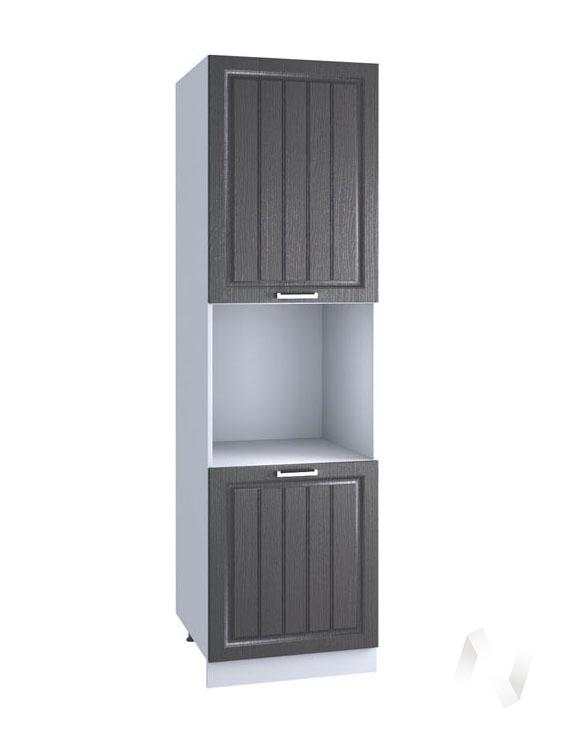 """Кухня """"Луксор"""": Шкаф пенал 600, ШП 600 Н (Клен серый/корпус белый)"""