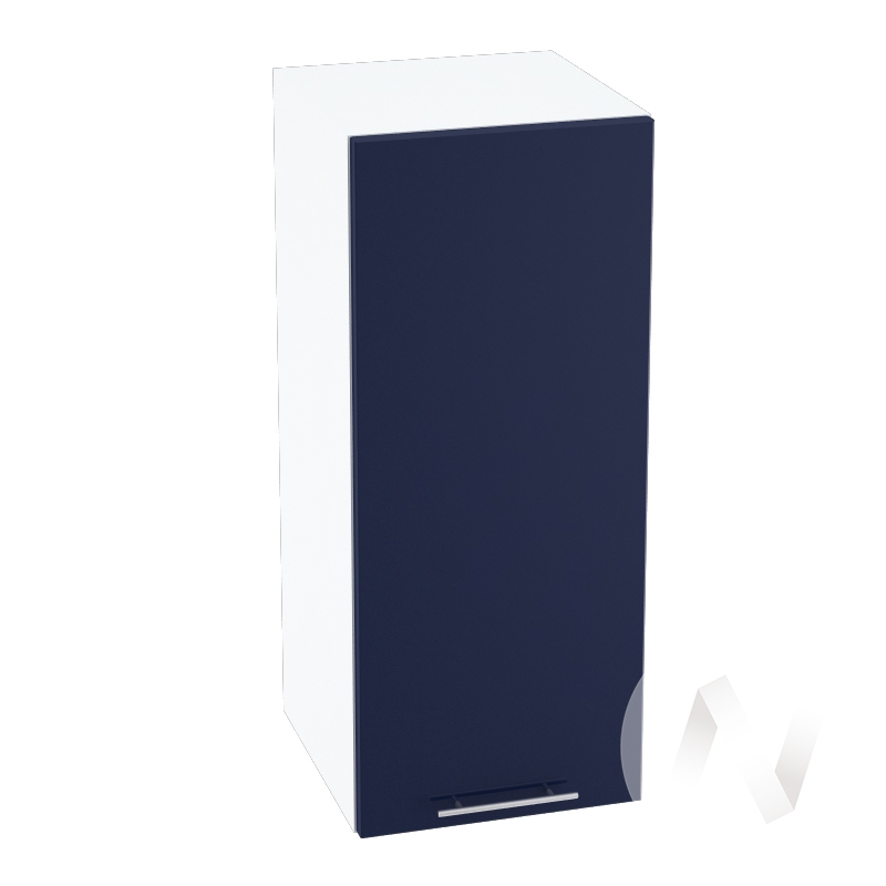 "Кухня ""Валерия-М"": Шкаф верхний 300, ШВ 300 (Синий глянец/корпус белый)"
