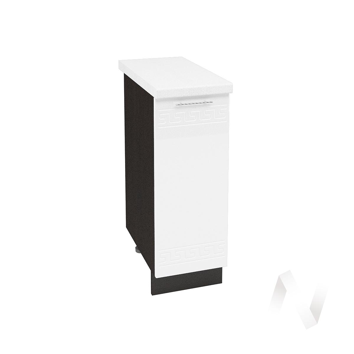 """Кухня """"Греция"""": Шкаф нижний 300, ШН 300 (белый металлик/корпус венге)"""
