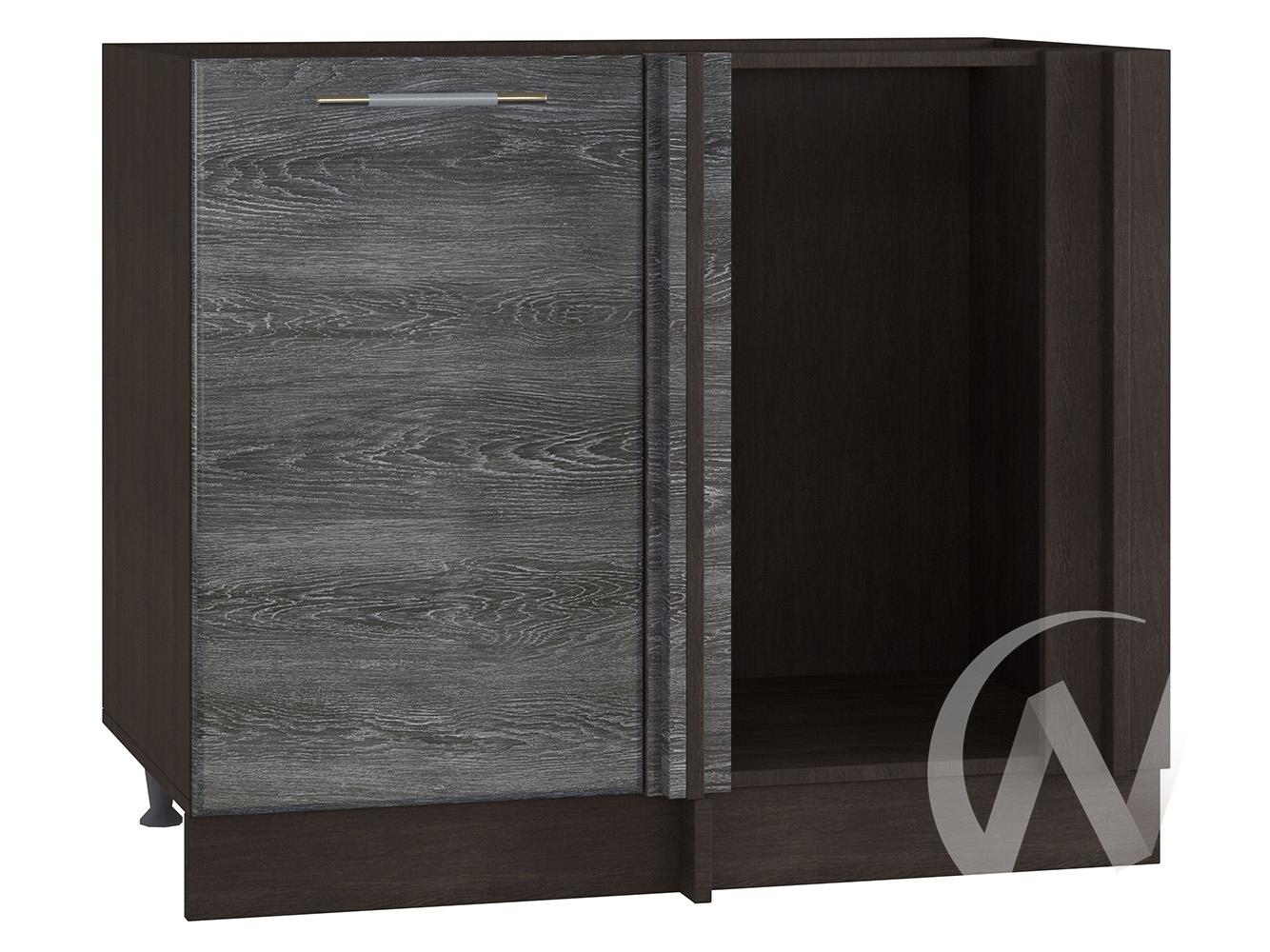 "Кухня ""Танго"": Шкаф нижний угловой 990М, ШНУ 990М (Дуб шале серебро/корпус венге)"